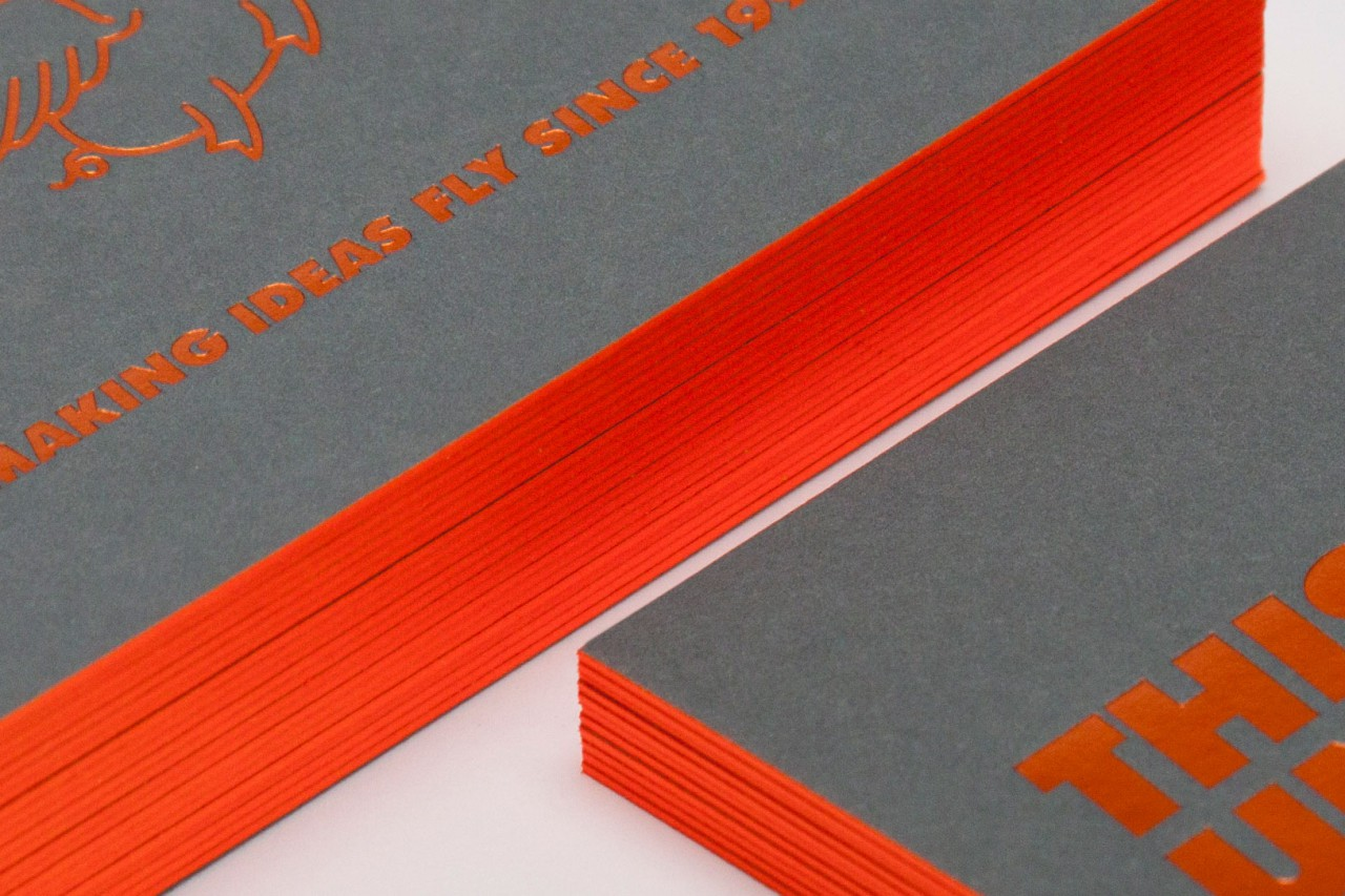 Colour book edges - Applying colour to the edge of a business card invitation book block spent years mastering it mixing the inks in house metallics fluorescents